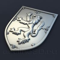 3d model Coat Of Arms Of Scotland